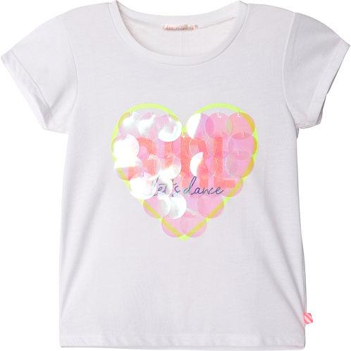 Billieblush Novelty  Cotton T-Shirt- White