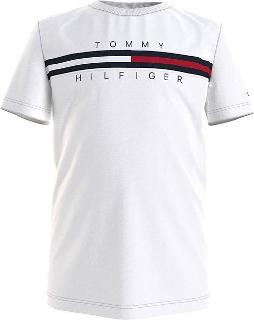 Tommy Hilfiger FLAG LOGO CREW NECK T-SHIRT-white