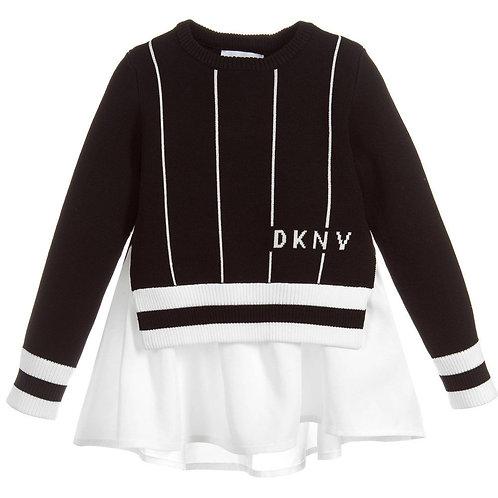 DKNY 2 Black & White Sweater Set
