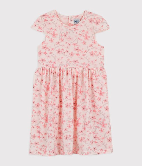 Petit Bateau-Girls' Jersey Piqué Formal Dress