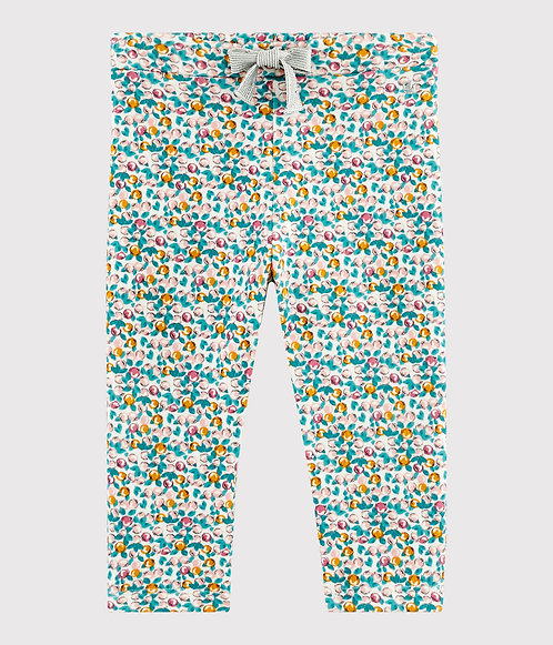 Petit Bateau Baby girl's floral trousers