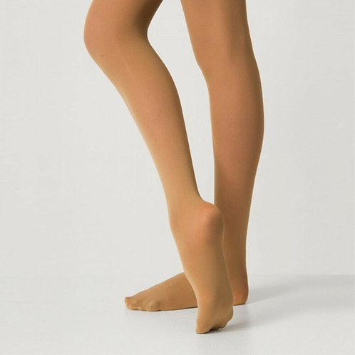 60 Denier Tan Footed Tights- Children's