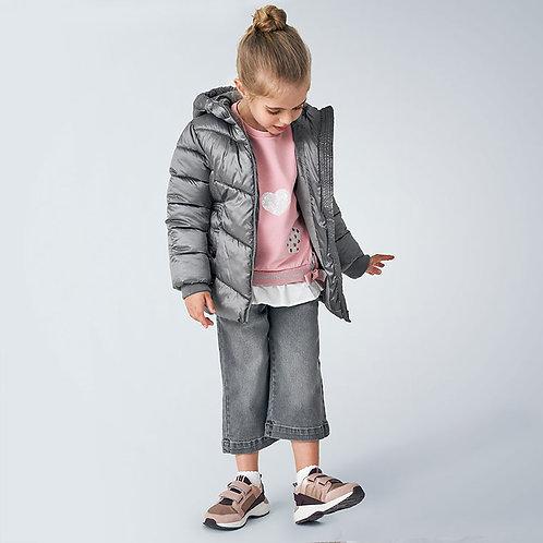 Mayoral Girls Padded coat for girl in Titanium