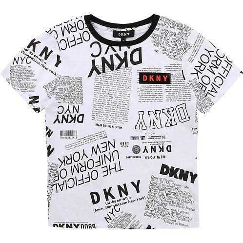 DKNY Boys Organic Print T-Shirt
