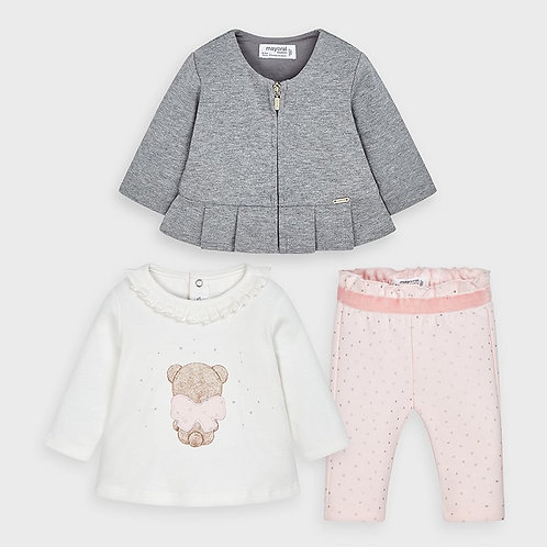 Mayoral 3 piece set in Baby Rose
