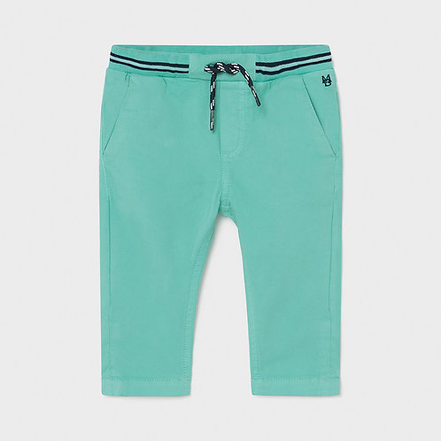 Mayoral twill pants Aqua