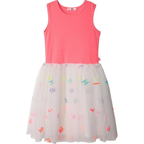 Billieblush Lined dual-material tutu dress