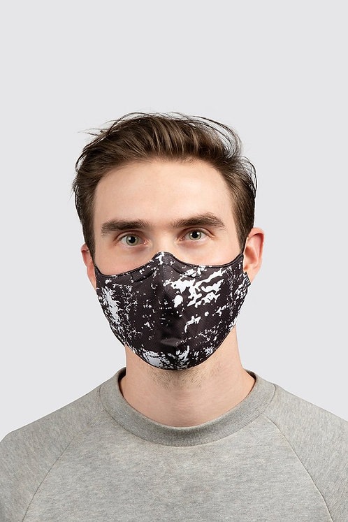 Bloch B-Safe  Adult Lanyard face Mask Black/White