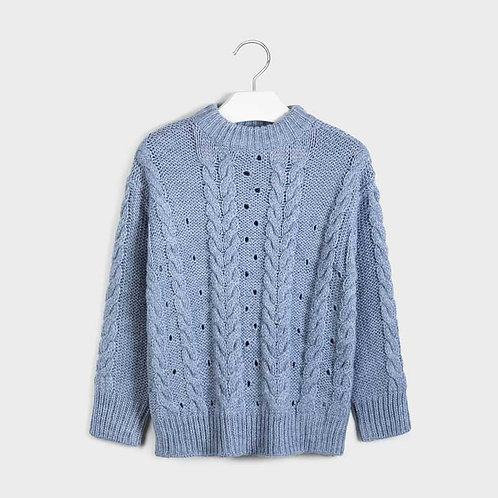 Mayoral Girls Knit sweater in Lavender