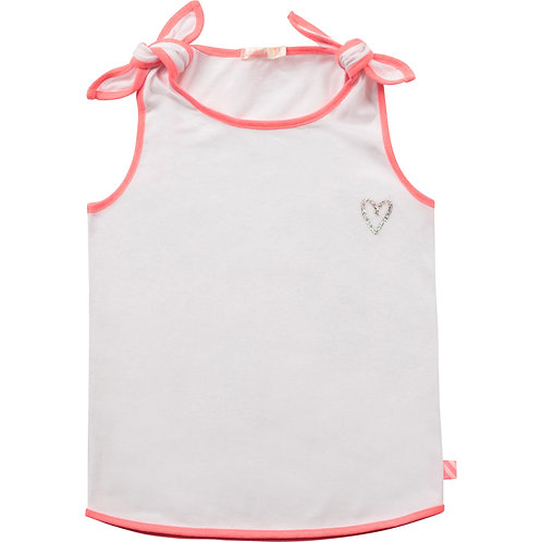 Billieblush Vest Top With Bows-White