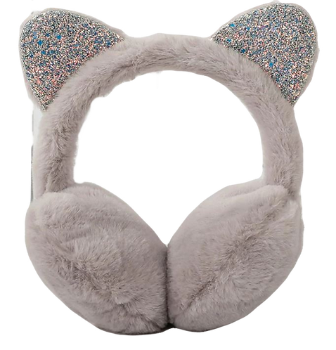 Kids Cat fur Earmuffs one size: Grey