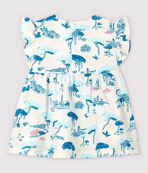 Petit Bateau-Baby Girls' Sleeveless Jersey Print Blouse