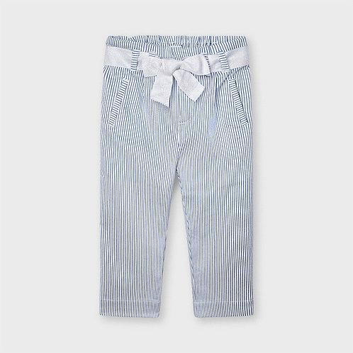 Mayoral striped lurex long pants blue