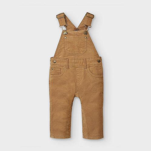 Mayoral Boys Corduroy dungaree in Almond