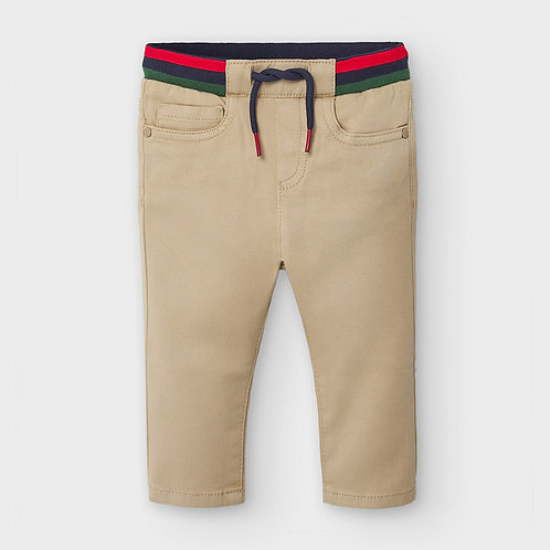Mayoral Boys Patterned Trousers in Sand