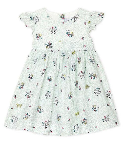 Petit Bateau Baby Girls' Printed Short-Sleeved Dress