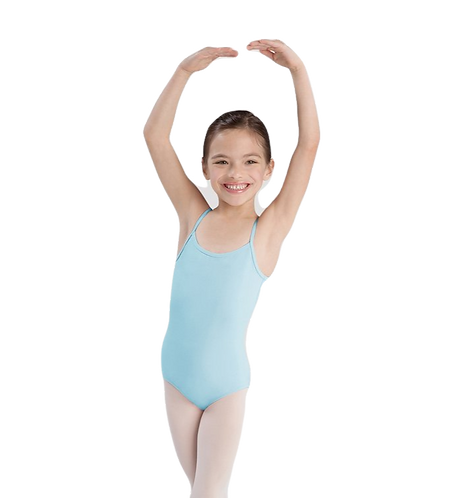 Bloch Girls Basic Camisole Leotard- Pale Blue