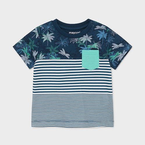 Mayoral short sleeved blocks t-shirt blue
