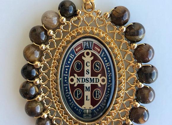 Medalla San Benito ovalada XL, doble faz