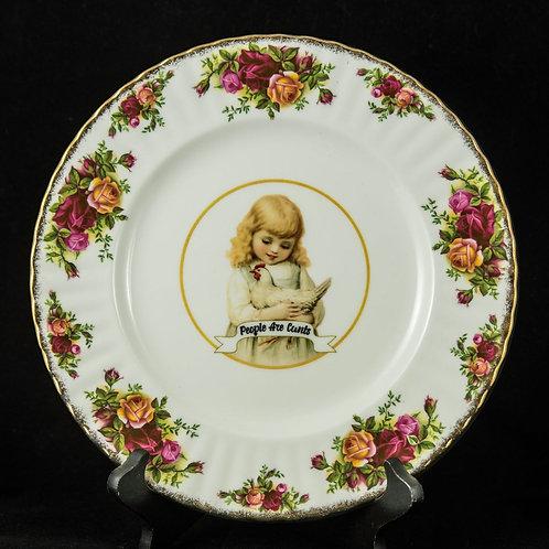 Wolf Dottir Decorative Plate - People Are Cunts