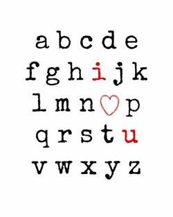 A23 - Alphabet - I heart U