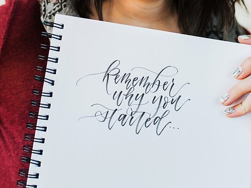 Modern Calligraphy - Monday September 16 - 6pm
