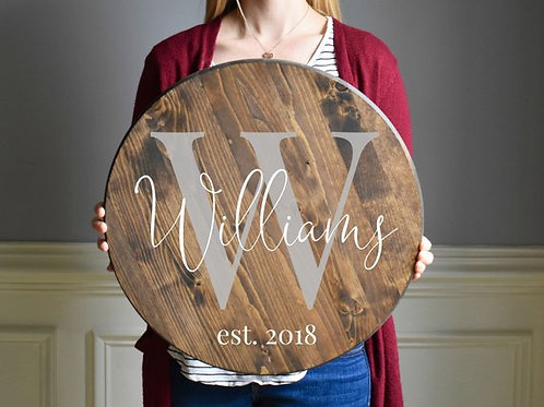 """18"""" Wood Lazy Susan - Tuesday March 19 - 6pm"""