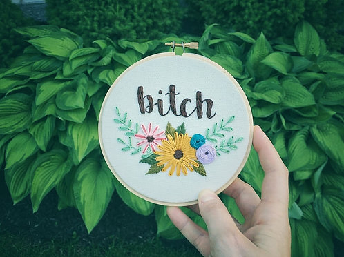 Pick Your Curse Word Embroidery - Thursday September 6 - 6pm