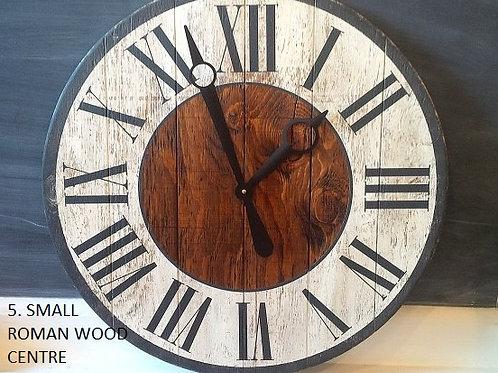 "Rustic Wood Clock (24"") - Tuesday July 9 - 6pm"