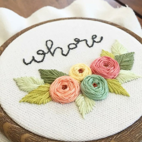 Pick Your Curse Word Embroidery - Wednesday May 1 - 6pm