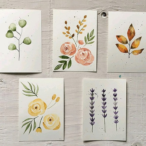 Watercolour Florals w/ Moon & Co. - Sunday September 23 - 6pm