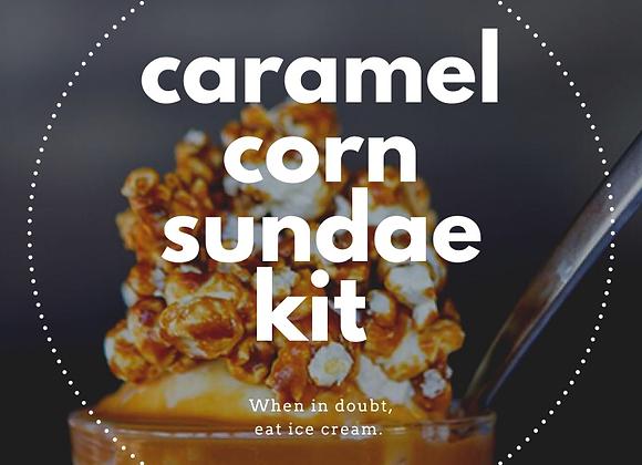 Caramel Corn Sundae Kit