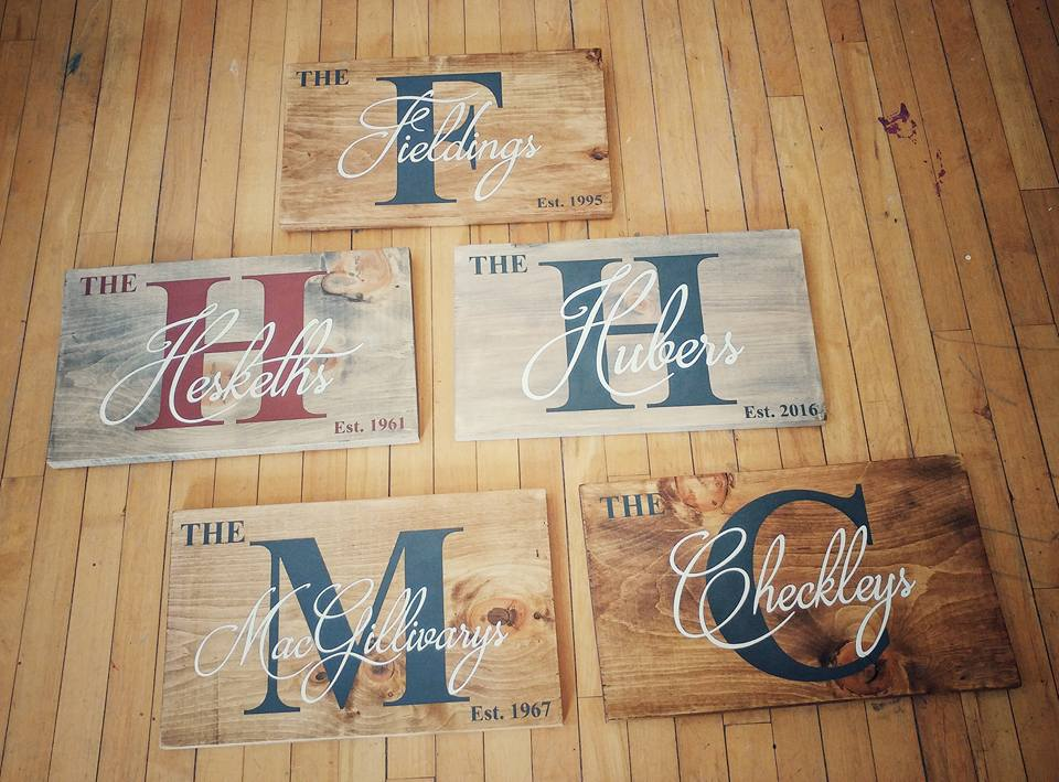 A56 - Family Name Sign - $10 extra