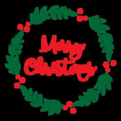 8 - Merry Christmas Wreath