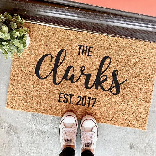 Personalizerd Coir Doormat - Thursday July 25 - 6pm