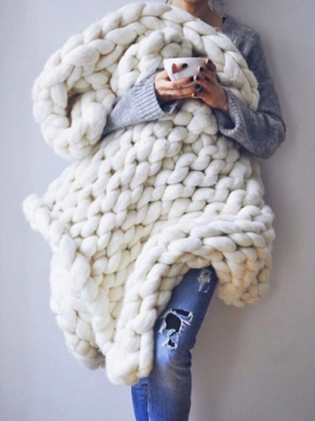 Extreme Knitting - Bulky Wool Blanket - Saturday December 1 - 1pm