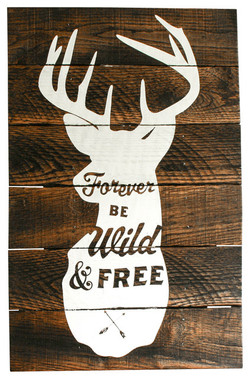 A33- Stag Forever Be Wild & Free