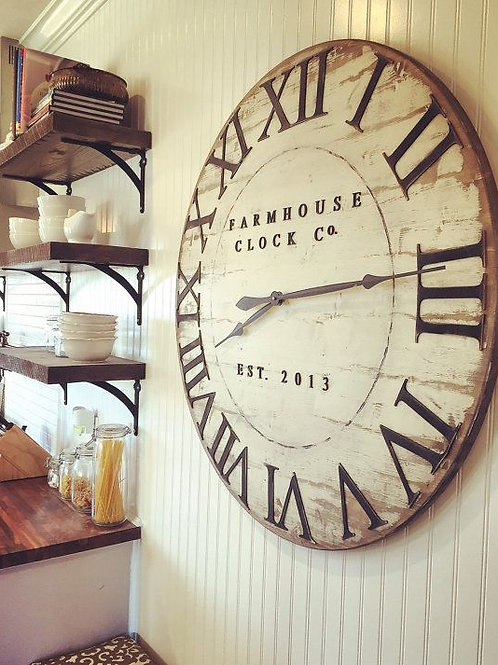 "Rustic Wood Clock (24"") - Tuesday June 26 - 6pm"