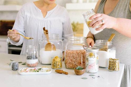 DROP IN Make-Your-Own Bath Salt Bar - Sunday July 8 1-4pm