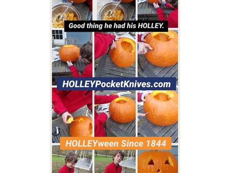 Cutting a Pumpkin HOLLEY Fun
