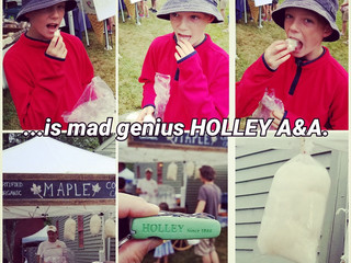 Good thing I had my HOLLEY to open the Maple cotton candy bag @ Austerlitz B-Berry Fest