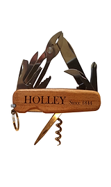 MOD13C Pocket Knife with Quarter Sawn Black Cherry Premium Wood Scales