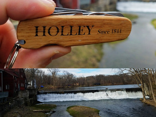 Falls and a Mill Near The Old Klaverack Brewery = HOLLEY Action & Adventure. HOLLEYKnives.co Sin
