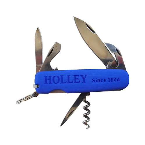 MOD10 Pocket Knife with Blue 3DPrinted Scales