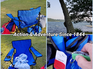 Pop up Chairs @ Lake Wononskopomuc = HOLLEY Action & Adventure.