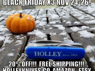HOLLEY Pocket Knives Black Friday Sale of 20% Off with Free Shipping Launched Today Prematurely