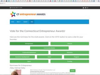 CT Entrepreneur Awards - Vote for HOLLEY under VENTURE and me under ENTREPRENEUR