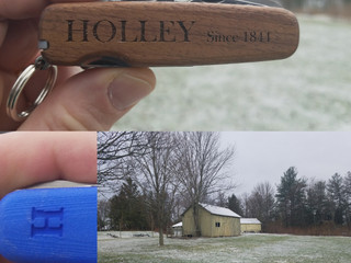 Snow on April 19th NOT HOLLEY Action & Adventure. HOLLEYKnives.co Since 1844. Each HOLLEY is bui