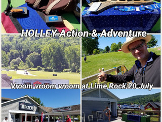The sounds and smells of racing on 20 July @ Lime Rock Park scream HOLLEY Action & Adventure.
