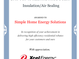 Simple Home Energy Solutions is very honored to receive 2 awards!